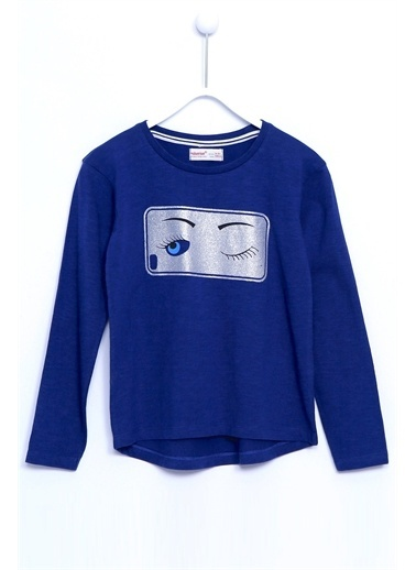 Silversun Kids Tişört Örme Uzun Kollu Sim Baskılı Tişört Kız Çocuk Bk 310988 Lacivert